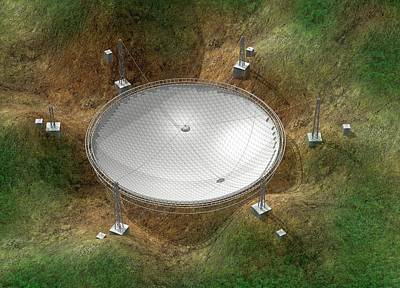 Fast Telescope Print by Claus Lunau