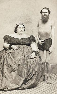 Fat Lady & Thin Man Print by Granger