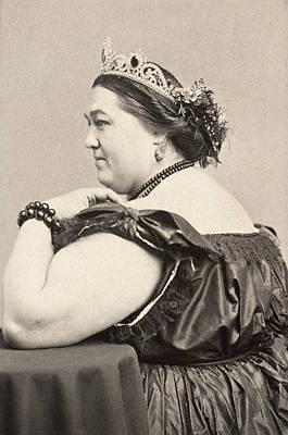 Fat Lady, 19th Century Print by Granger