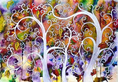 Fantasy Tree Art Painting - Fates by Zaira Dzhaubaeva
