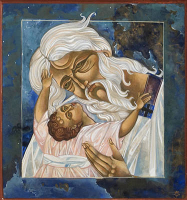 Egg Tempera Digital Art - Father by Mary jane Miller