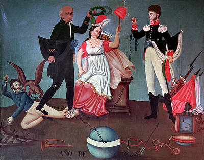 Liberating Painting - Father Miguel Hidalgo (1753-1811) by Granger