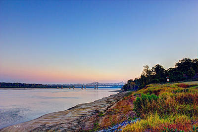 Sunset Photograph - River - Bridge - River Bank - Father Of Rivers by Barry Jones
