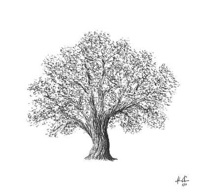 Father Tree Print by Adam Vereecke