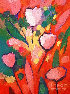 Serenade Painting - Fauve Flowers by Lutz Baar