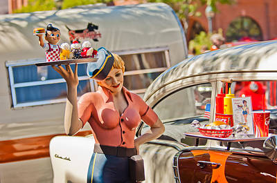 Diner Photograph - Faux 50's Drive-in by Jill Reger