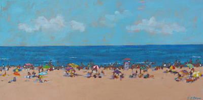 Popular People Painting - Favorite Beach by Elisabeth Olver