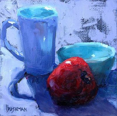 Fiestaware Painting - Favorite Colors by Laurel Bushman