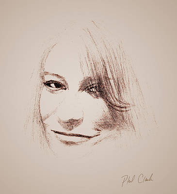 Phil Clark Mixed Media - Favorite Niece by Phil Clark