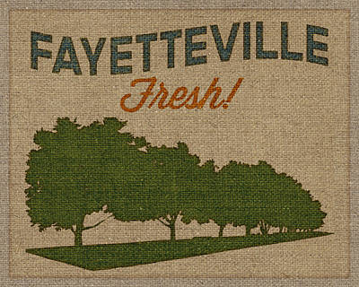 Arkansas Digital Art - Fayetteville Fresh by Flo Karp