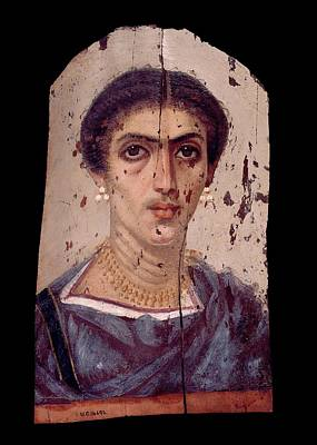 Roman Archaeology Photograph - Fayum Mummy Portrait by Petrie Museum Of Egyptian Archaeology, Ucl