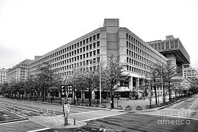 Law Enforcement Photograph - Fbi Building Front View by Olivier Le Queinec