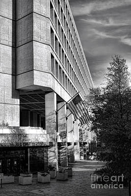 Fbi Building Modern Fortress Print by Olivier Le Queinec