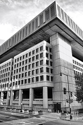 Fbi Building Rear View Print by Olivier Le Queinec