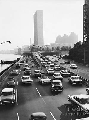 Fdr Drive, Nyc, 1961 Print by Dick Hanley