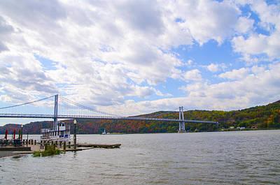 Hyde Park Digital Art - Fdr Mid Hudson Bridge - Poughkeepsie Ny by Bill Cannon