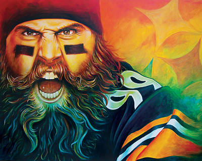 Steelers Painting - Fear Da Beard by Scott Spillman