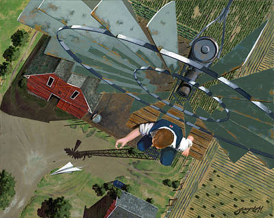Crops Painting - Fearless by John Wyckoff