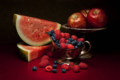 Raspberry Photograph - Feast Of Red Still Life by Tom Mc Nemar
