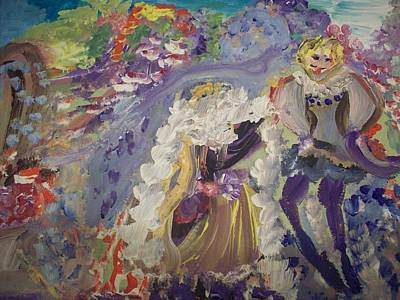 Feather Boa Dance Original by Judith Desrosiers