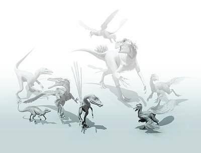 Microraptor Photograph - Feathered Dinosaurs by Mikkel Juul Jensen