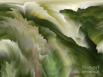 Digital Art - Feathered Hills And Valleys by Patricia Kay