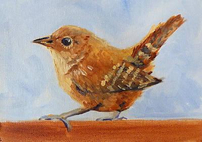 Starlings Painting - Feathered by Nancy Merkle