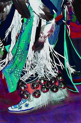 Beadwork Photograph - Feathers Fringe And Bells by Kae Cheatham