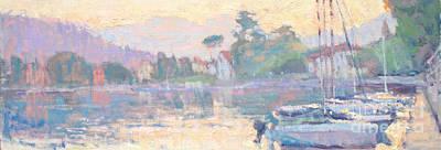 Lake Como Painting - Febbraio by Jerry Fresia
