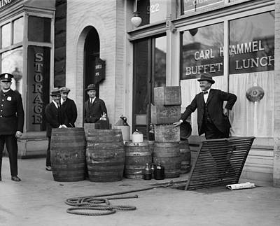 Federal Prohibition Agents 1923 Print by Daniel Hagerman