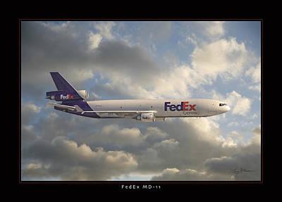 Md Digital Art - Fedex Md-11 by Larry McManus