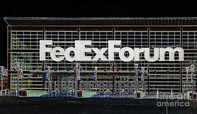 Usa Digital Art - Fedexforum Memphis Tn by Liz Leyden