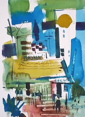 Feed Mill Painting - Feed Mill by Micheal Jones