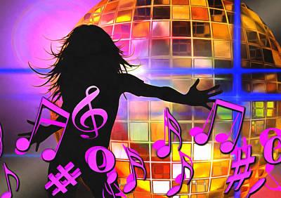 Trombone Mixed Media - Feel Like Dancing by Georgiana Romanovna