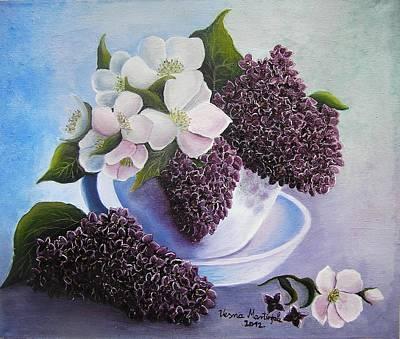 Flower Painting - Feel The Fragrance by Vesna Martinjak