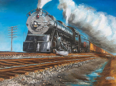 Steam Locomotive Painting - Feel The Ground Shake by Christopher Jenkins