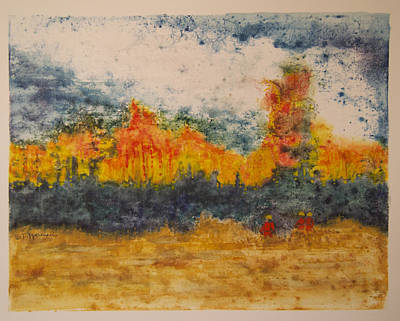 Wildfire Painting - Feel The Heat by Tonja Opperman