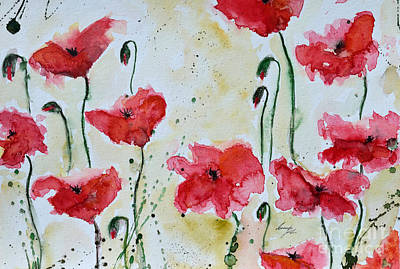 Feel The Summer 1 - Poppies Print by Ismeta Gruenwald