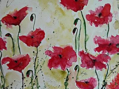 Feel The Summer - Poppies Print by Ismeta Gruenwald