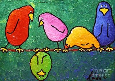 Limbbirds Painting - Feelin Down by LimbBirds Whimsical Birds