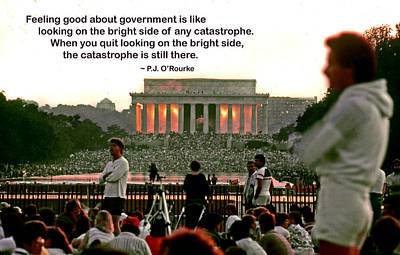 Feeling Good About Government Print by Mike Flynn