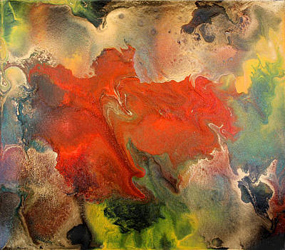 Feelings Eruption Print by Julia Fine Art And Photography