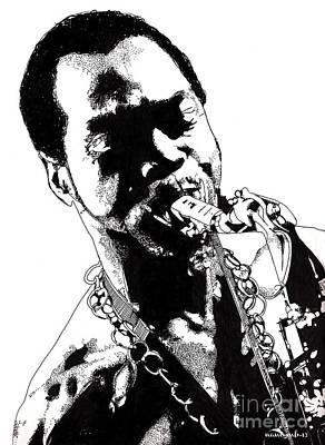 Black People Mixed Media - Fela Kuti by Nancy Mergybrower