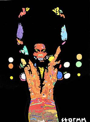 Ghana Painting - Fela Kuti by Stormm Bradshaw