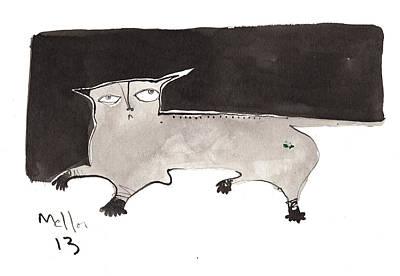 Outsider Art Drawing - Feles No. 2  by Mark M  Mellon
