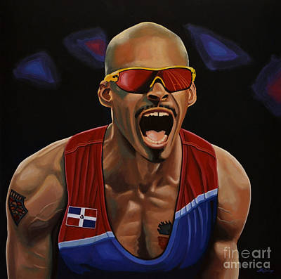 Sports Painting - Felix Sanchez by Paul Meijering