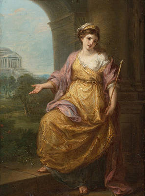 Female Allegory Print by Angelica Kauffmann