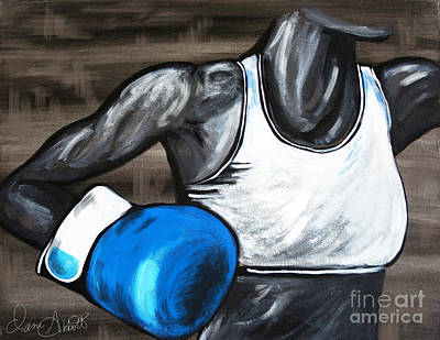 Bodybuilding Painting - Female Boxer by Dani Abbott