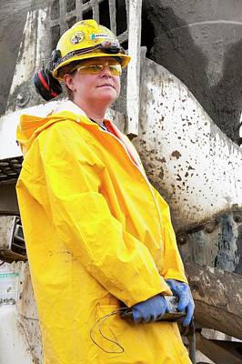 Destruction Photograph - Female Construction Worker by Ashley Cooper