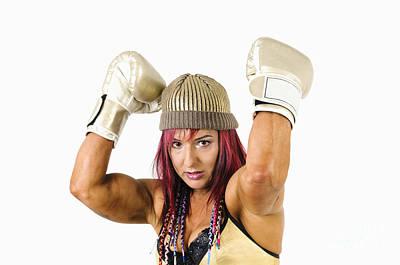 Female Kick Boxer 1 Print by Ilan Rosen